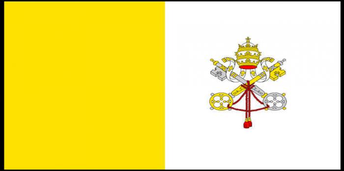 PAPAL VATICAN flag