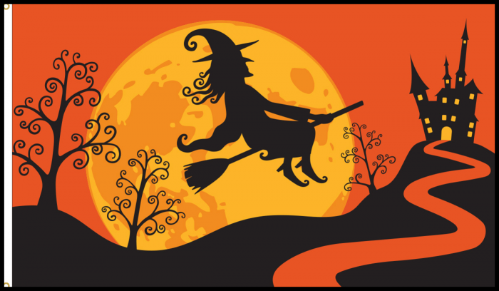 Halloween Witch Flag