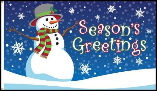 Seasons Greetings Flag