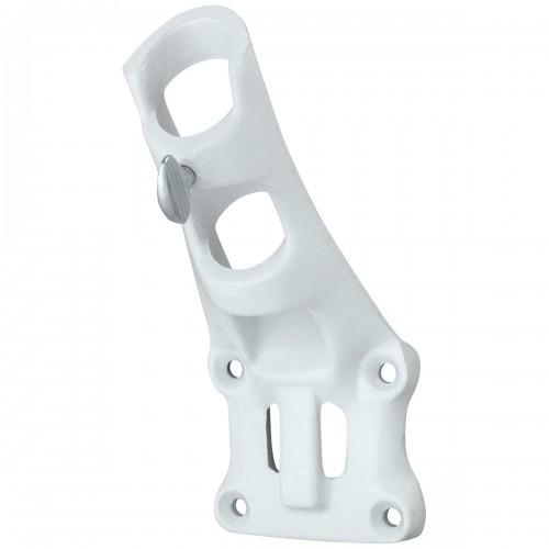 Bracket White Alum 1 position