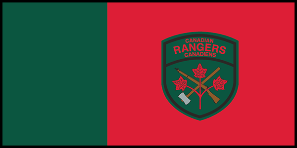Canadian Rangers Flag